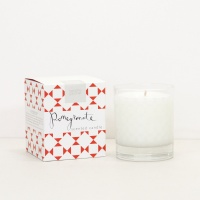 Pomegranate Scented Boxed Candle By Caroline Gardner